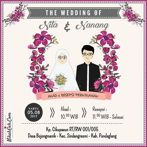 12 best undangan images on Pinterest Invitations, Wedding - best of invitation text adalah