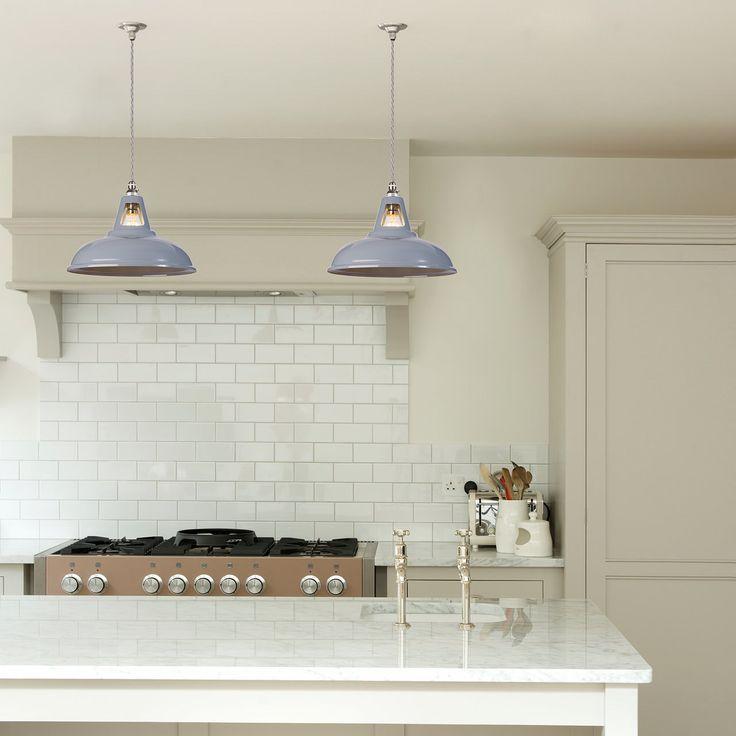 £60 Coolicon Industrial Pendant Light - Squirrel Grey - Artifact Lighting