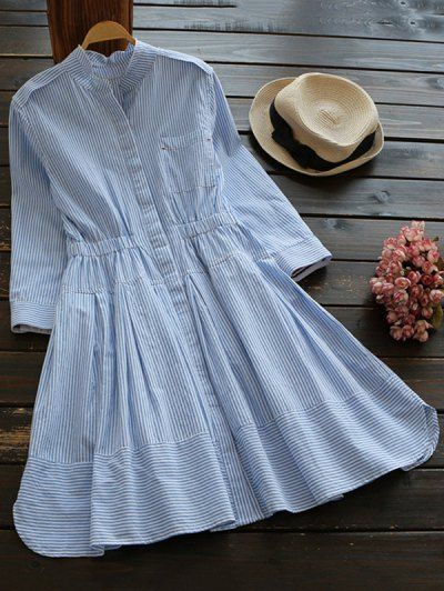 GET $50 NOW   Join Zaful: Get YOUR $50 NOW!http://m.zaful.com/striped-linen-blend-shirt-dress-p_267886.html?seid=70m2jek4gagohmcdchbv2adhl7zf267886