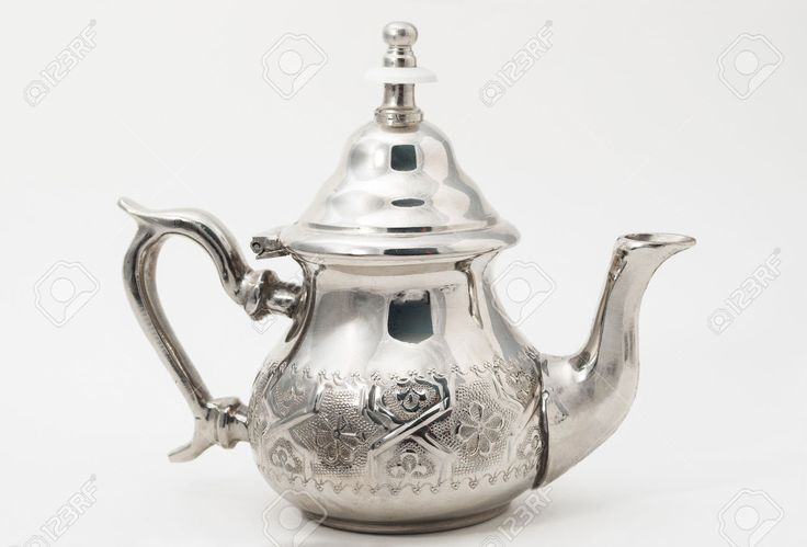 Traditional Teapot From Western Sahara Isolated On White Stock ...