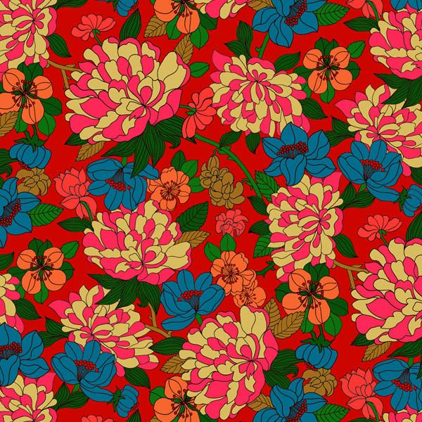 Copeland rich red blue - from Liberty Fabric