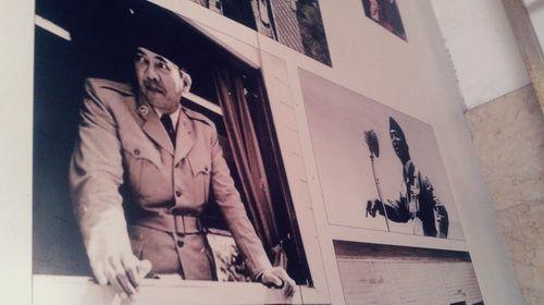 Foto Bung Karno di stasiun Blitar
