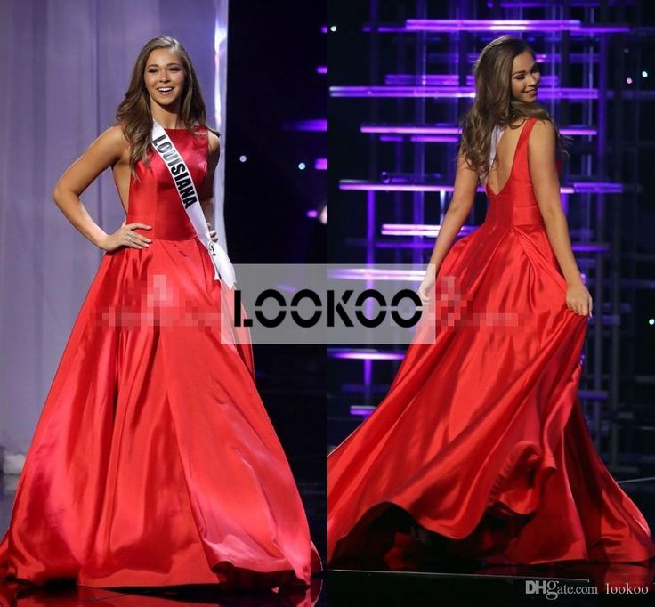 Bateau Neck A Line Pageant Miss Teen Usa 2016 Formal Evening Dresses Backless…