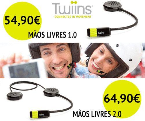A Twiins® (marca registada da MAT Group) continua a inovar com os seus produtos! - KIT MÃOS LIVRES TWIINS® 1.0 | PVP: 54,90€ (IVA incluído); - KIT MÃOS LIVRES TWIINS® 2.0 | PVP: 64,90€ (IVA incluído). Fique atento a todas as características dos novos Twiins® com a Lusomotos. #twiins #lusomotos #mãoslivres #kitmãoslivres #gps #música #telefone #comunicação #novidades #MatGroup #andardemoto #estilodevida #urbano #cidade #capacete