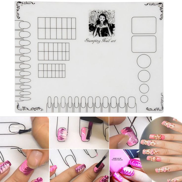 High Quality Nail Tools Professional Stamping Nail Art Clear Silicone Plate Color Pat Washable Mat Nail Equipment M03347