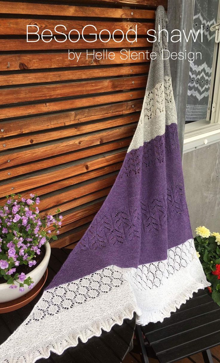 the BeSoGood shawl pattern by Helle Slente Design | lace knitting | ravelry pattern