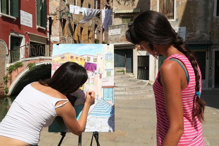 https://flic.kr/p/tVJjwk | Venezia by Angelica | Painting lessons in Venice, Italy http://www.drawing-lessons.sognare-venezia.net/