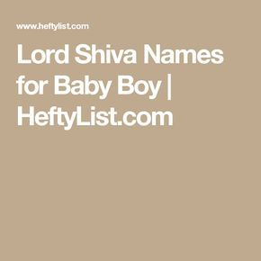 Lord Shiva Names for Baby Boy | HeftyList.com