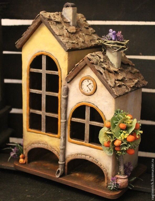 """Купить чайный домик """" Здесь живёт счастье """" - бежевый, чайный домик, счастье"""
