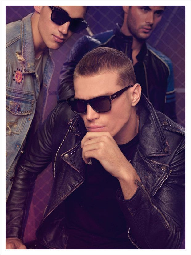Alessio Pozzi, Matthew Noszka, and Lucas Alves Model Just Cavalli SS17 Collection