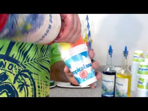 Tropical Sno - How to pour flavors to make a perfect Hawaiian Shaved Ice - YouTube