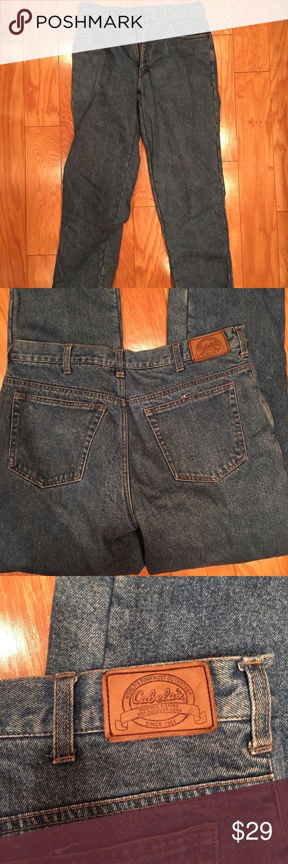 Men's Flannel lined jeans NWOT Cabelas flannel lined jeans.  Size 34R Cabelas Jeans Relaxed
