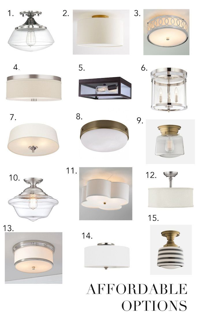Elements of Style Blog | The Dreaded u201cBoob Lightu201d | http://. Flush Mount  Kitchen Lighting FixturesBathroom Flush ...