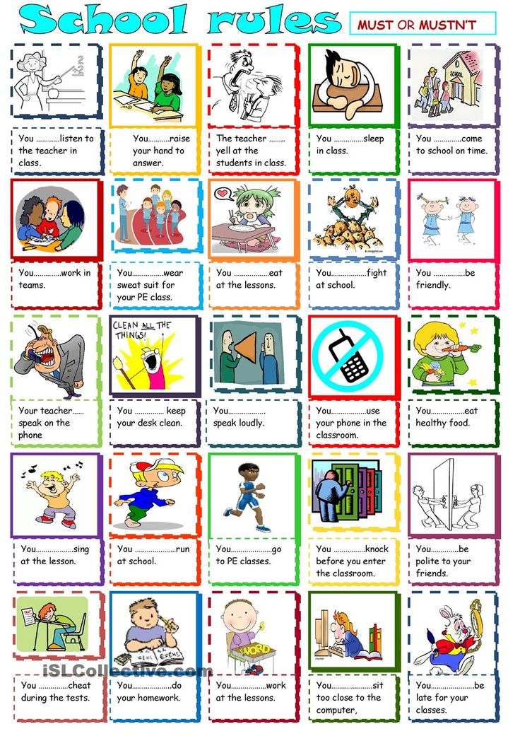 Must and Mustnt | FREE ESL worksheets