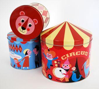 Circus tins. http://www.ingelaparrhenius.com/