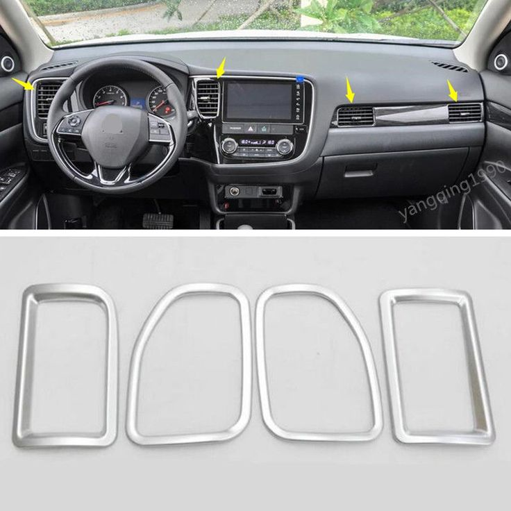 cool Great For OUTLANDER 2016 2017 2018 Interior Chrome Air Vent Outlet Ring Cover Trim 4PC 2018