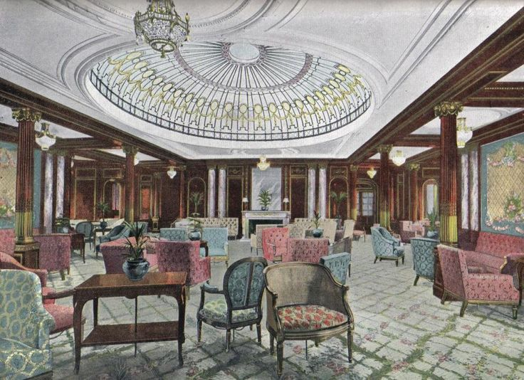 RMS mauretania interiors | Description Drawing of the RMS Mauretania's First Class Lounge.jpg