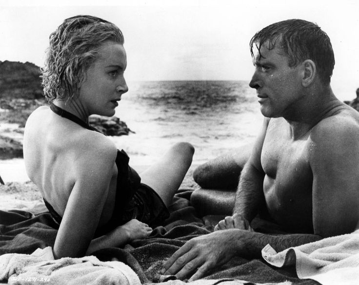 "Deborah Kerr and Burt Lancaster in ""From Here to Eternity"""