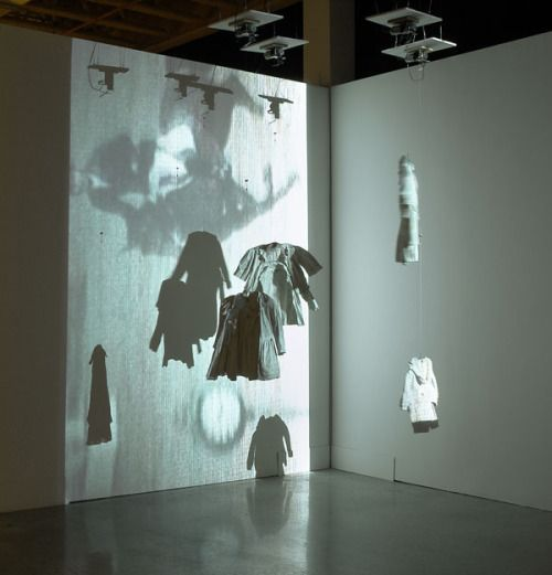 """Carolee Schneemann, """"SNAFU,"""" 2004. Motorized sculpture with projection. Courtesy of the artist."""