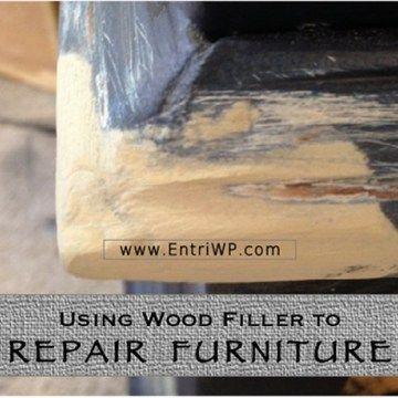 Using Wood Filler to Repair Furniture