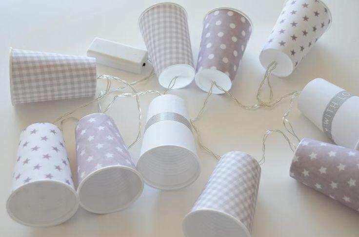 DIY Lichterkette mit Bechern Mehr