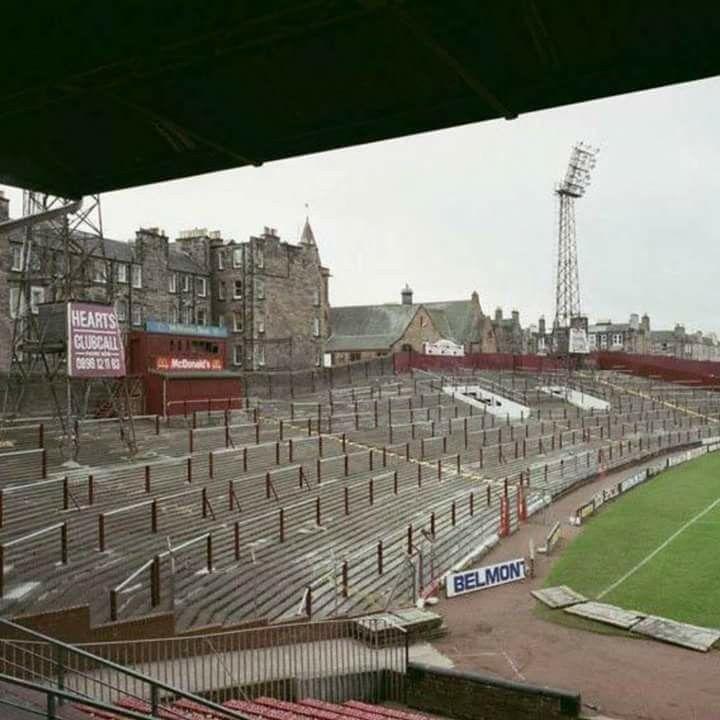 Tyne Castle stadium. Hearts of Midlothian, Edinburgh, Scotland.