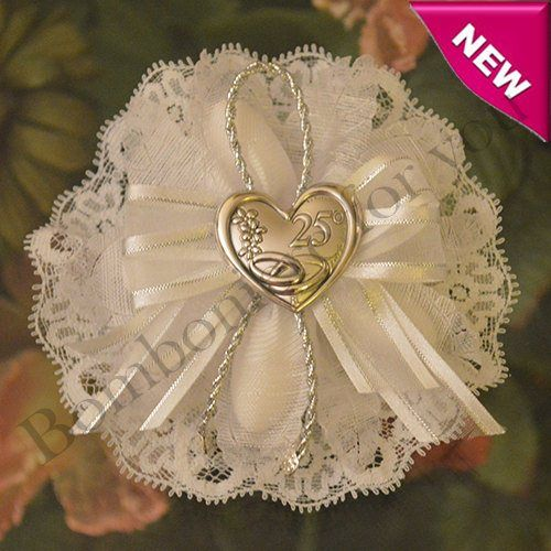 Pin On Wedding Anniversary 2020: Italian 25th Anniversary Favor Bomboniere With Silver