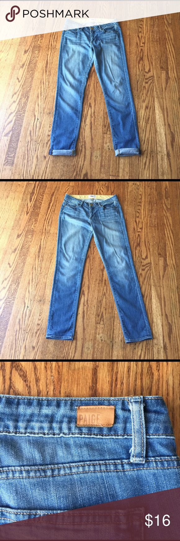 "🔥flash sale 🔥Paige Skyline Ankle Peg Jeans Inseam 30"" inches. Minor tear on the back label and small pen mark on the right leg (see pictures). Size 28 Paige Jeans Jeans"