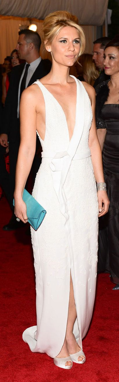 this dress somewhat reminds me of the new cadillac look  Claire Danes In J. Mendel at the 2012 Met Gala