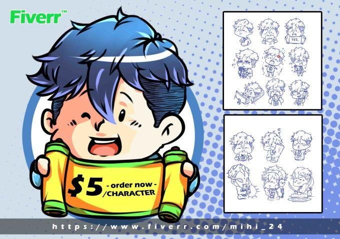draw avatar, chibi, cartoon, manga or anime move and your avatar, just $5
