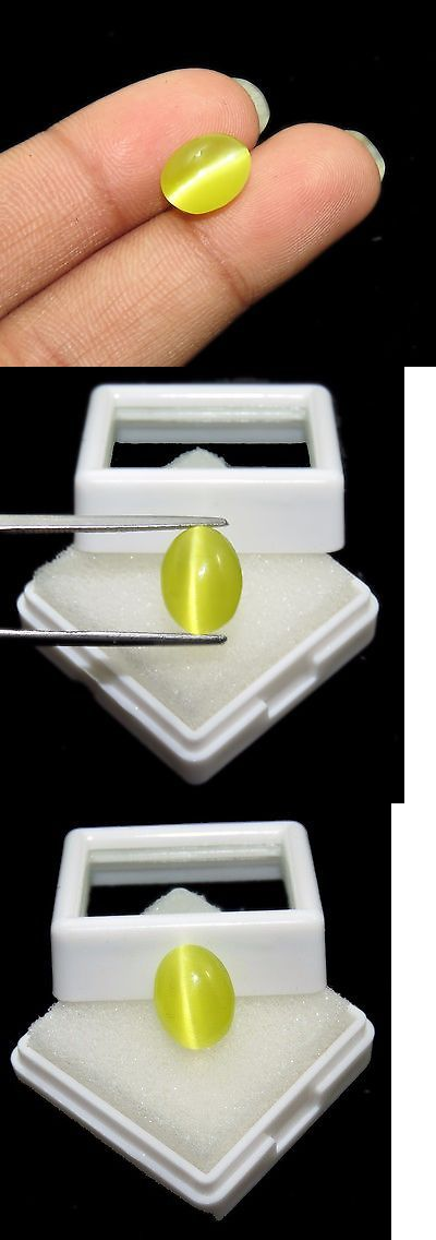 Chrysoberyl 110792: 5.30 Ct Charming 100% Natural Oval Shape Certified Honey Color Cats Eye Gems -> BUY IT NOW ONLY: $49.99 on eBay!