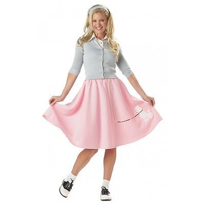 Poodle Skirt Costume Adult 50s Halloween Fancy Dress
