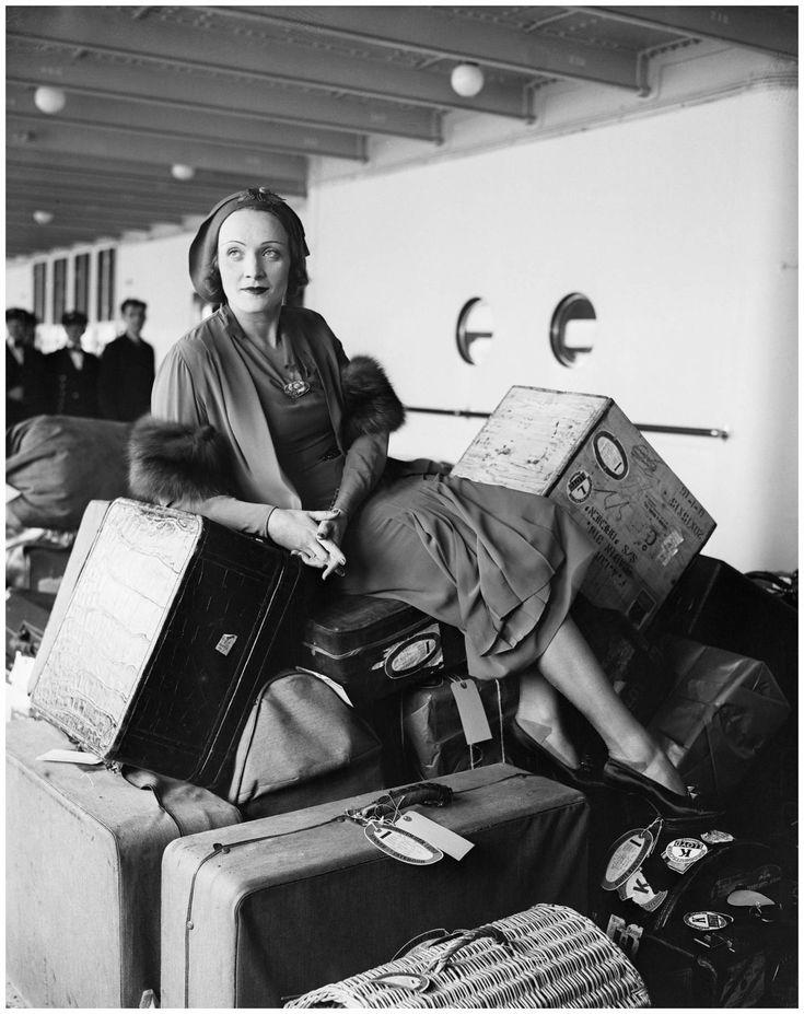 Marlene Dietrich, back from Germany, April 23, 1931. Photo via http://www.reddit.com