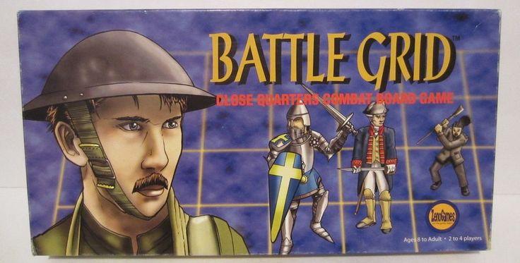 Battle Grid Close Quarters Combat Board Game Zeno Games Bill Stackpole 2002 #ZenoGames