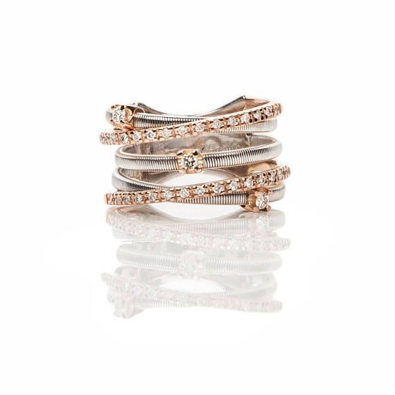 Gorgeous 18kt White & Rose Gold Quintuple Series Ladies Woman
