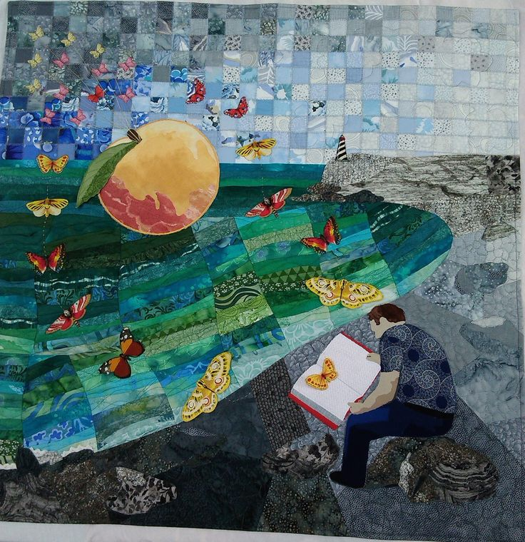 Sold. 'Flight of Ideas'. Aotearoa Quilters Flight  challenge. 2016. Juried into final 20.