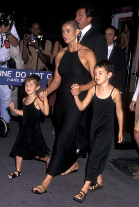 Demi Moore, Rumer Willis and Scout Willis (1996)