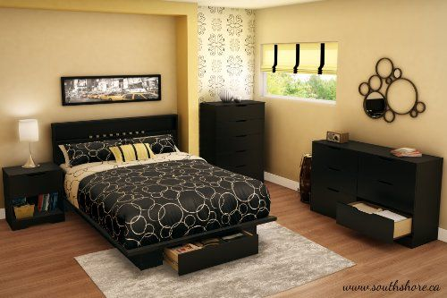 The interior drawer dimensions are 31-inch wide by 19-3/4-inch front to back Also available in mocha finish Mattress and accessories not included