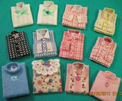 how to: miniature folded shirts (link to project…