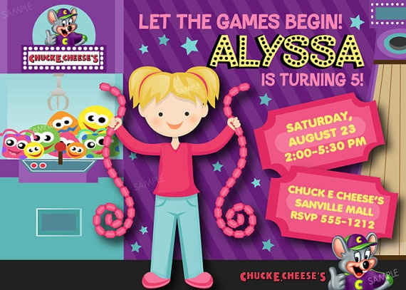 27 best images about Party cheesy – Chuck E Cheese Birthday Party Invitations