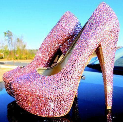 mercy.Fashion, Pink Sparkle, Dreams, Sparkly Shoes, Pink Heels, Pump, Pink Shoes, High Heels, Glitter
