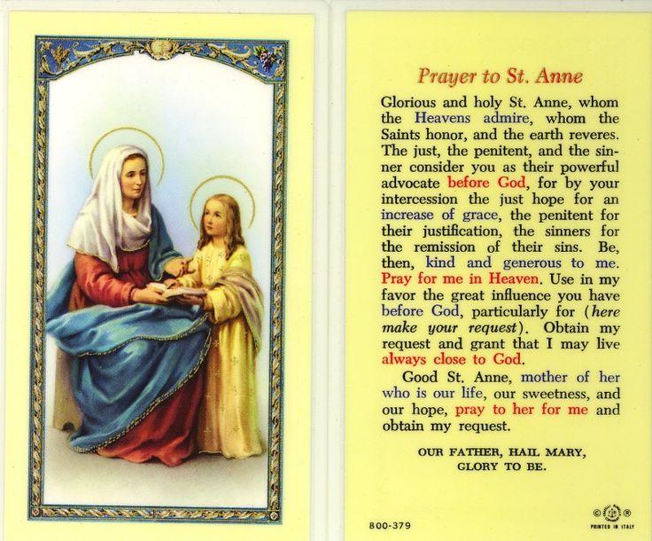 Prayer to St Anne
