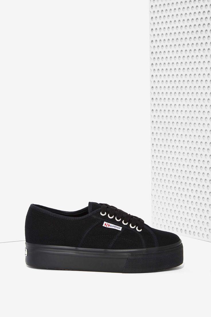 Superga Up and Down Platform Sneakers - Black