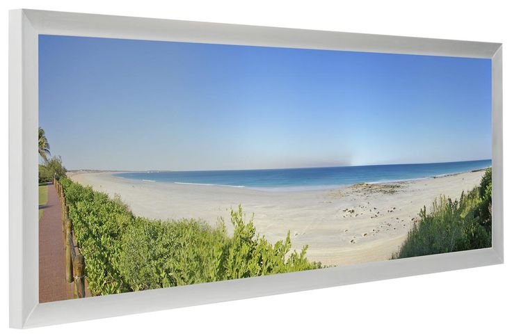 $18.85 For Steve's panoramic hunting picture. 30 x 10 Panoramic Picture Frame for Wall Mount Use, 1-inch Profile - Silver