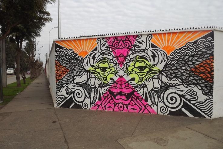 Representación Gráfica Street Art 2012, #Graneros 2012, Muralla Fábrica Nestlé Graneros.
