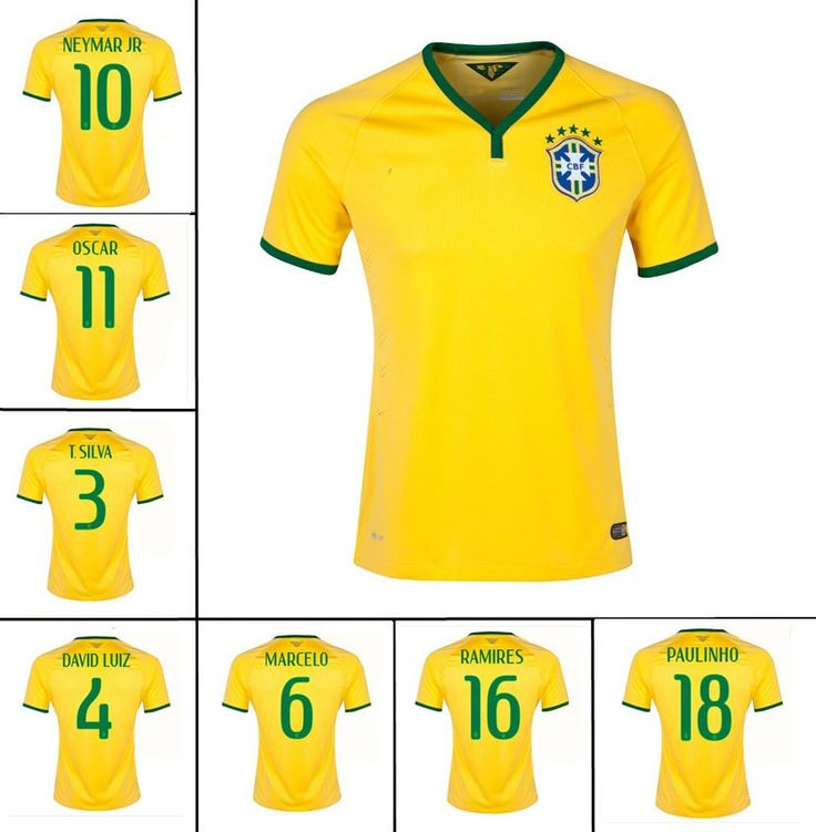 179ff2072 ... Jersey France Home World Cup 2014 24h david luiz poses in the new brazil  kit by NIKE ...