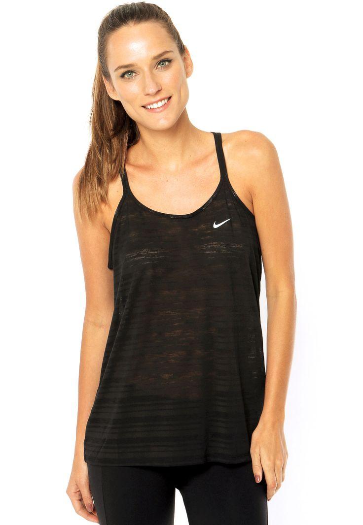 Regata Nike Dri-Fit Cool Breeze Strappy Preta - Compre Agora | Dafiti Brasil