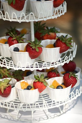 Fruit in little bakers cups