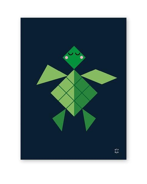 TANGRAM poster - Turtle
