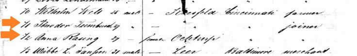 Individuals listed with a * and in orange are direct a ncestors of Frank Tumbush. *Ferdinand Gerhard Tumbusch*     b. 16 Aug 1797           Orstfamilienbuch (OFB) Entry (surname spelled...